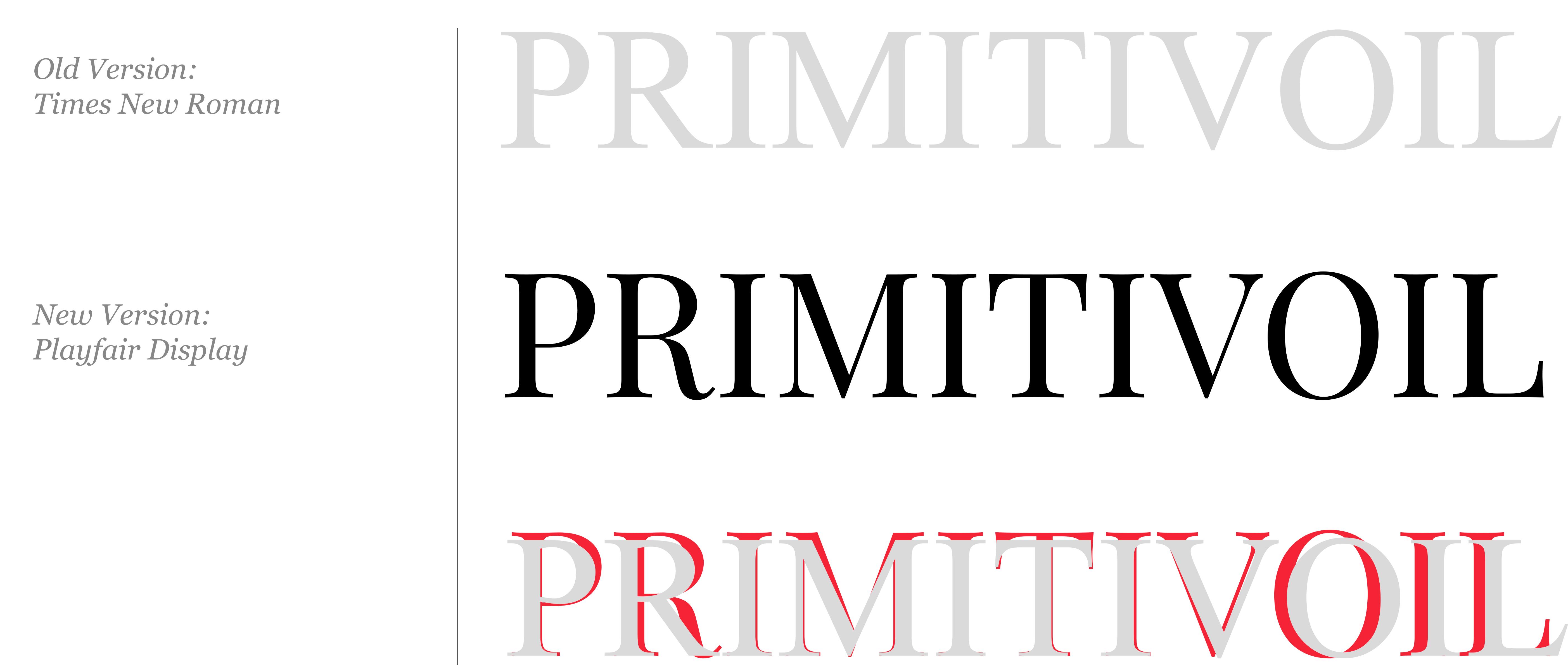 Cambiamento Tipografia PrimitivOil
