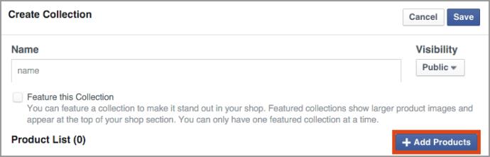 creazione-raccolta-prodotti-vetrina-facebook
