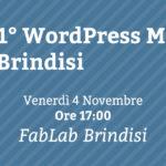 Benvenuto al Primo WordPress Meetup a Brindisi