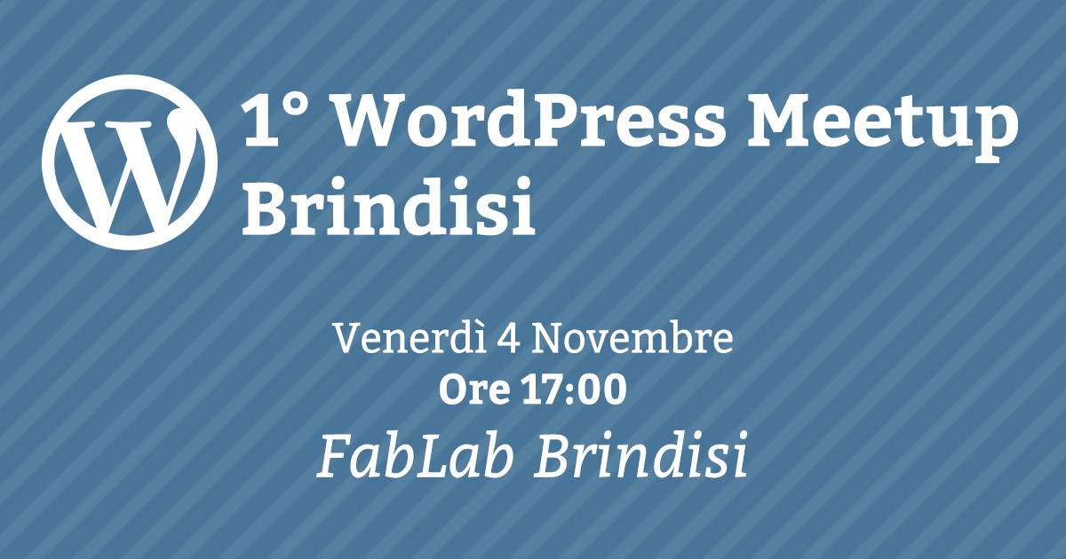 Primo WordPress Meetup a Brindisi