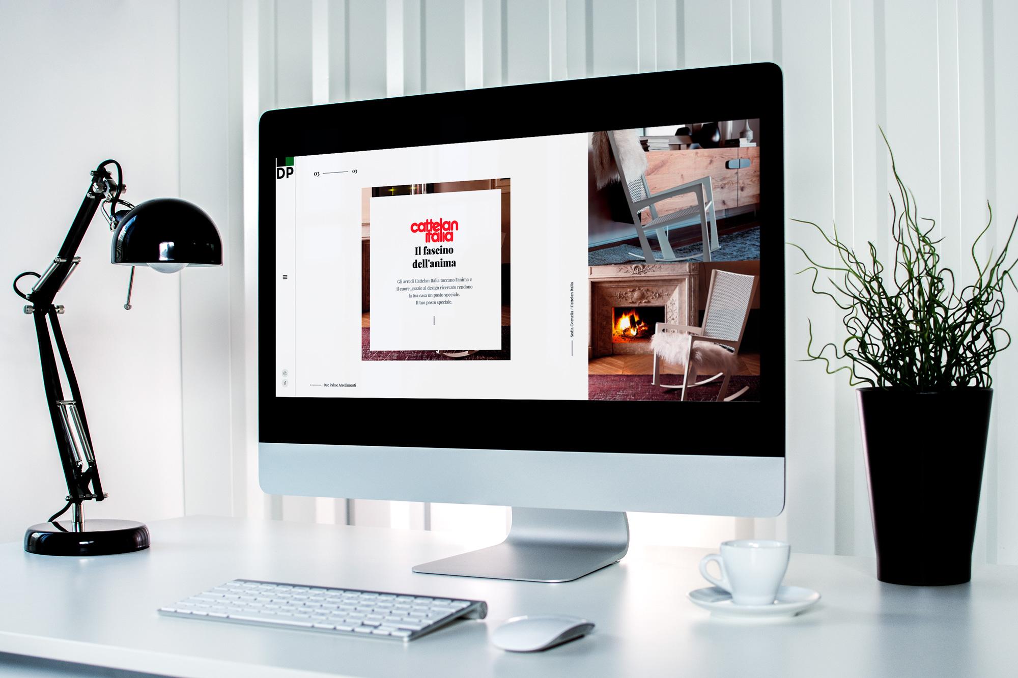 Sviluppo del minisito Web Cattelan Italia per Due Palme Arredamenti