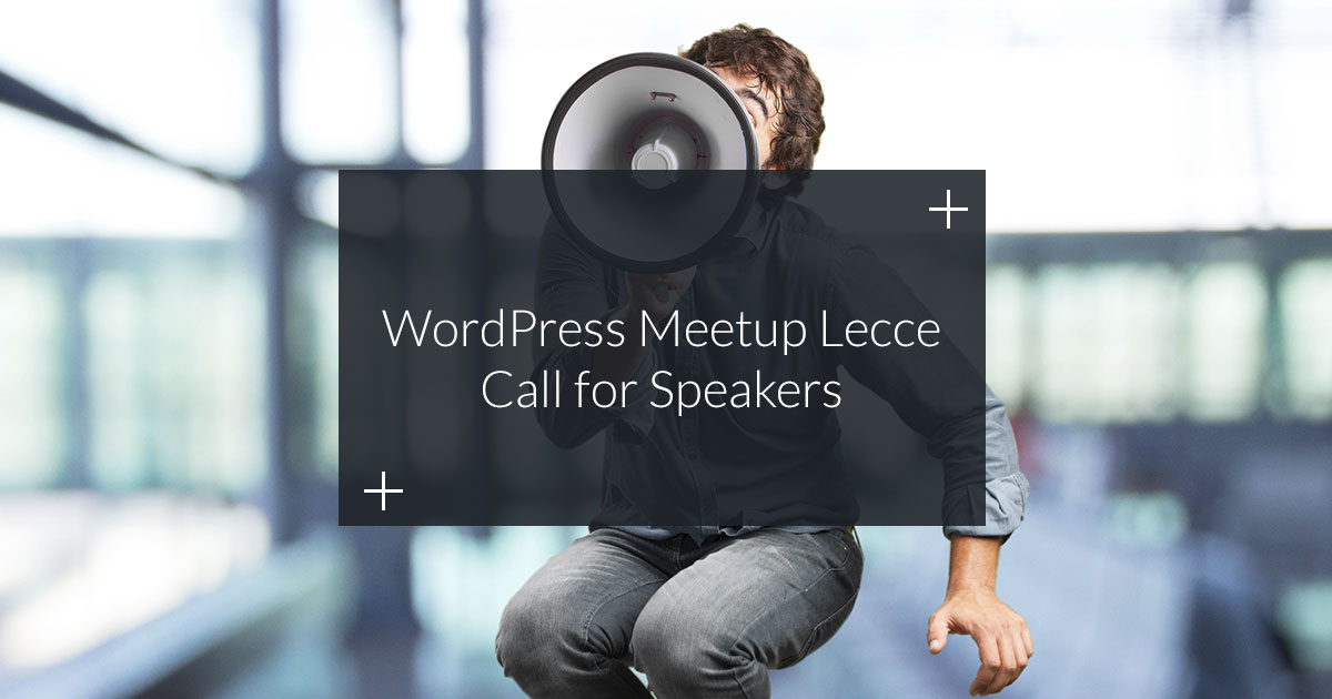 call wordpress meetup lecce