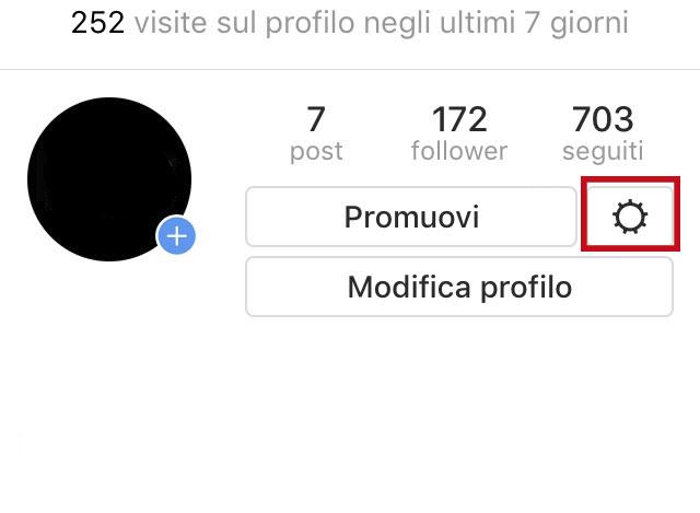 step 1 - impostazioni profilo