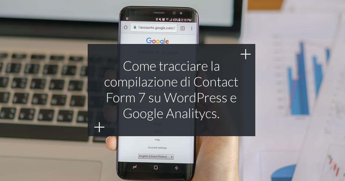tracciare contact form 7 con google analytics