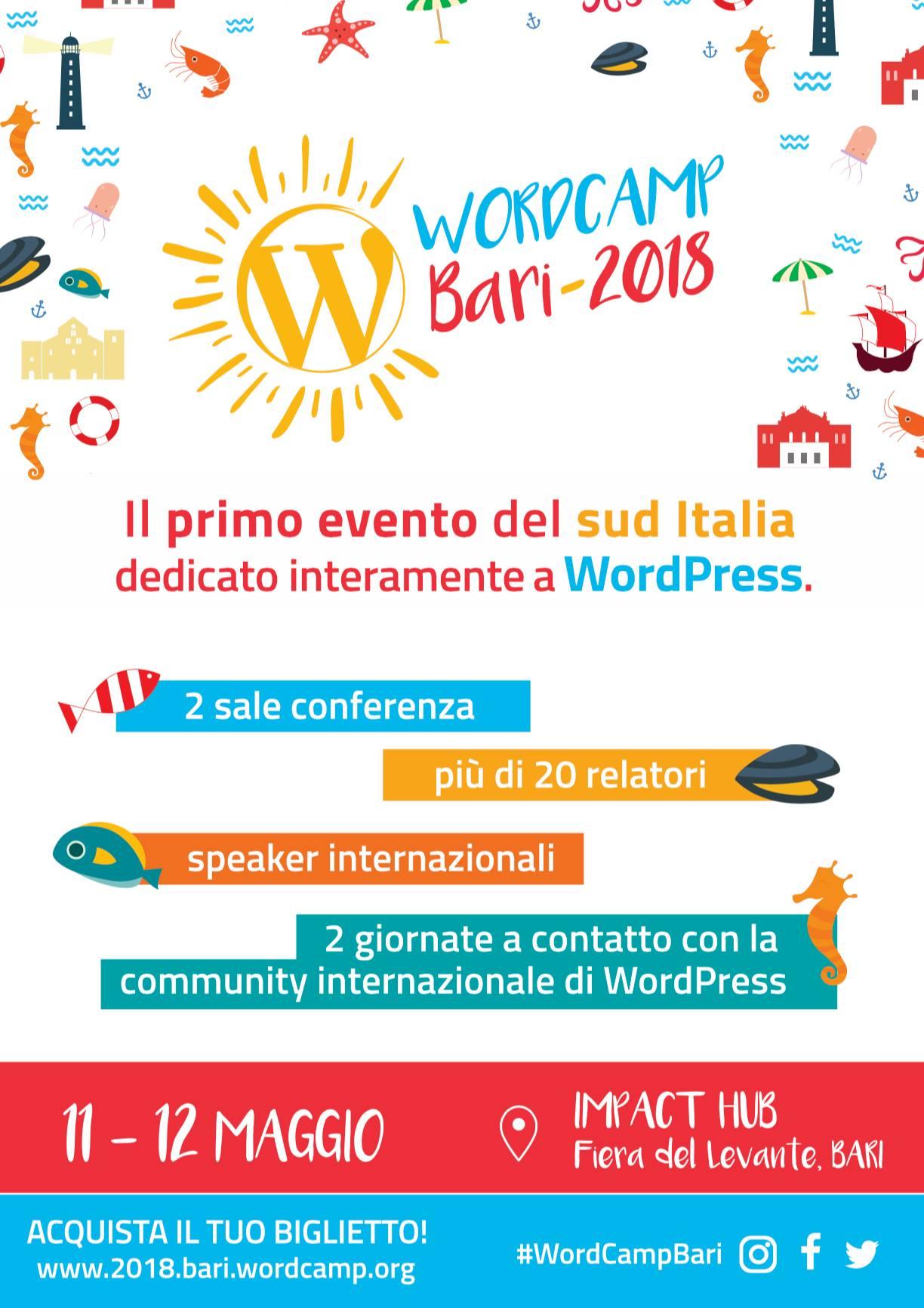 programma wordcamp bari 2018