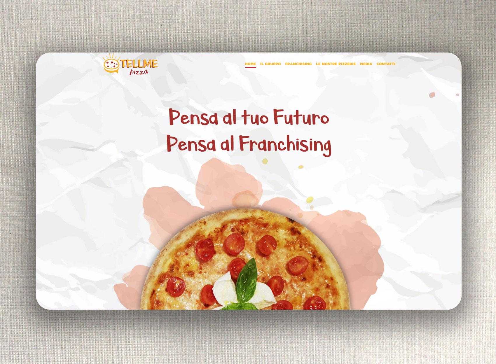 interfaccia grafica sito tellme pizza