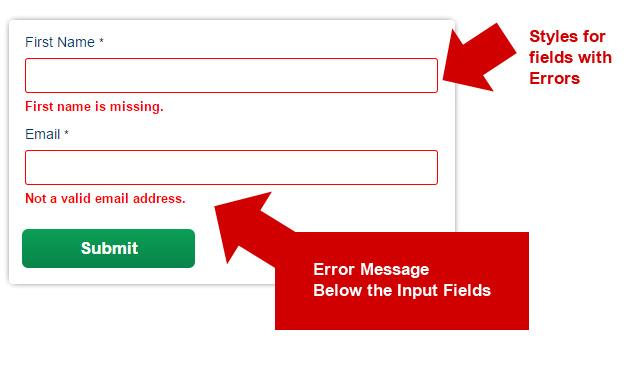 colori nel web design - indicatori nei campi input