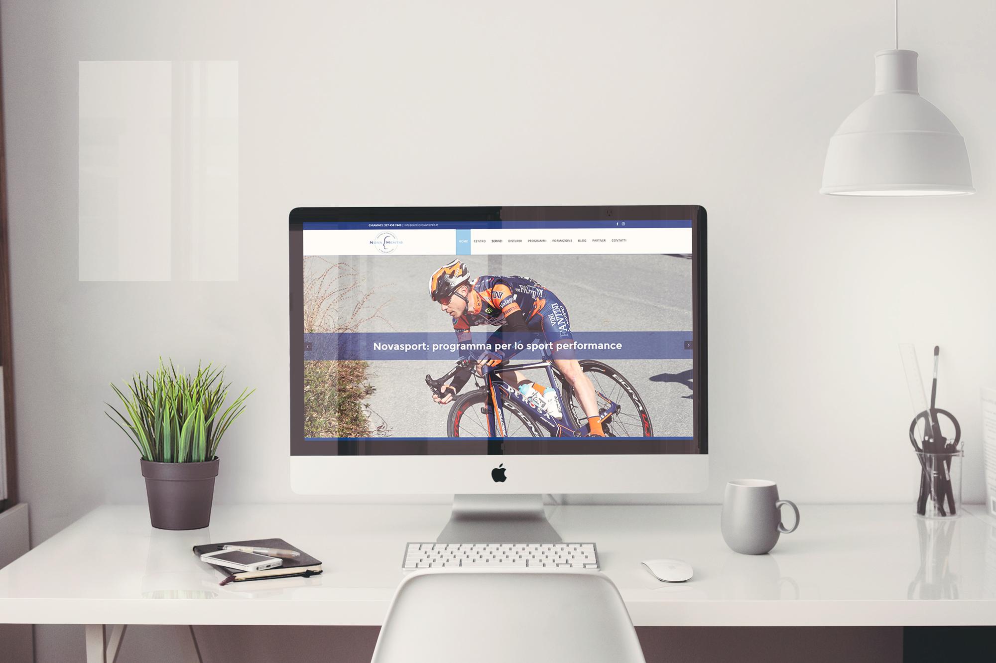 simulazione desktop sito nova mentis